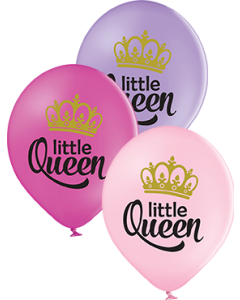 Little Queen Pastel Pink, Pastel Lavender und Pastel Rose Sortiment Latexballon Rund 12in/30cm
