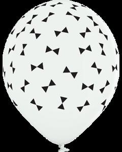 Bows Pastel White Latexballon Rund 12in/30cm