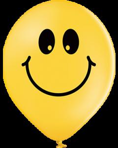 Smiley Pastel Bright Yellow Latexballon Rund 12in/30cm