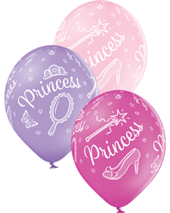 Princess Pastel Pink, Pastel Lavender und Pastel Rose Sortiment Latexballon Rund 12in/30cm