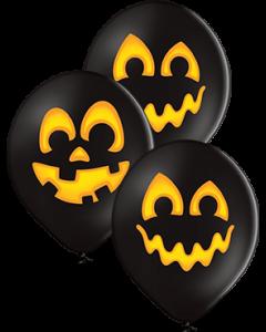 Pumpkins Pastel Black Latex Rund 12in/30cm