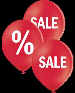 Sales Pastel Red Latex Rund 12in/30cm