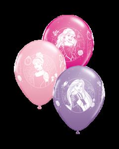Disney Princess Cameos Standard Pink, Fashion Spring Lilac und Fashion Wild Berry Sortiment Latexballon Rund 11in/27.5cm