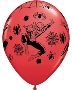 Marvel's Ultimate Spider-Man Standard Red Latexballon Rund 11in/27.5cm
