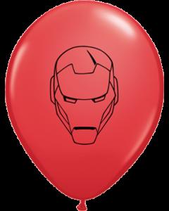 Marvel's Avengers Assemble Standard Red Latexballon Rund 11in/27.5cm