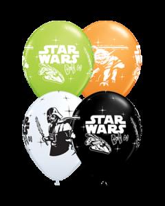 Darth Vader und Yoda Standard Orange, Standard White, Fashion Onyx Black und Fashion Lime Green Sortiment Latexballon Rund 11in/27.5cm