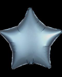 Steel Blue Satin Luxe Folienform Stern 17in/43cm