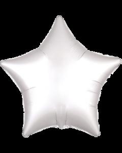 White Satin Luxe Folienform Stern 17in/43cm