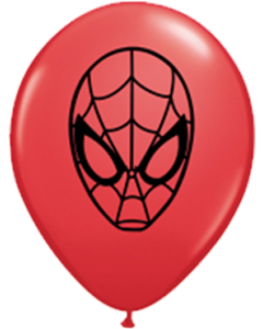 Marvel's Ultimate Spider-Man Face Standard Red Latexballon Rund 5in/12.5cm