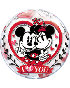 Mickey und Minnie I Love You Single Bubble 22in/55cm
