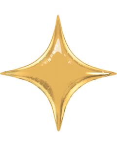 Metallic Gold Folienform Starpoint 20in/50cm