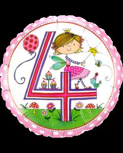 Rachel Ellen – Age 4 Fairy Polka Dots Folienform Rund 18in/45cm