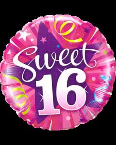 Sweet 16 Shining Star Folienform Rund 18in/45cm