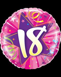 18 Shining Star Hot Pink Folienform Rund 18in/45cm