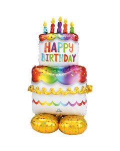 Birthday Cake Airloonz 50in/125cm