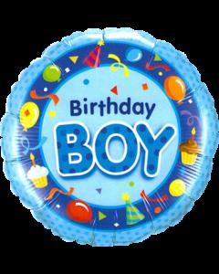 Birthday Boy Blue Folienform Rund 18in/45cm