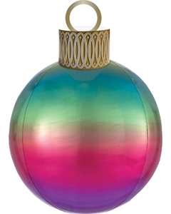 Rainbow Ombre Ornament XL Orbz 15in/38cm x 16in/40cm
