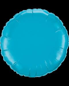Turquoise Folienform Rund 4in/10cm