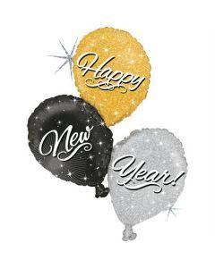New Year Balloon Trio 40in/102cm
