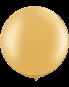 Metallic Gold Latexballon Rund 30in/75cm