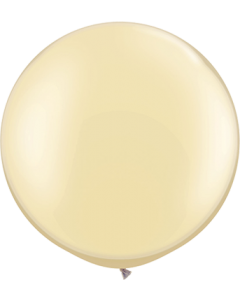 Pearl Ivory Latexballon Rund 30in/75cm