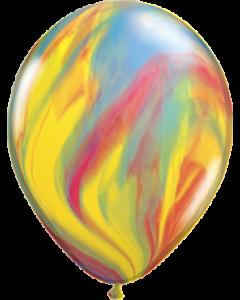 Traditional SuperAgate Latexballon Rund 11in/27.5cm