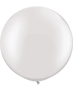 Pearl White Latexballon Rund 30in/75cm
