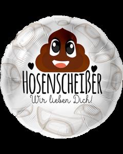 Hosenscheißer Wir lieben Dich Folienform Rund 17in/43cm