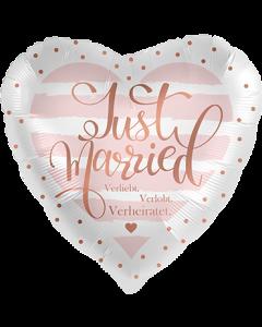 Verliebt Verlobt Verheiratet JM Folienform Herz 17in/43cm