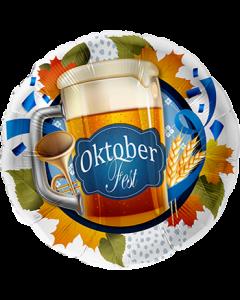 Oktoberfest Bierkrug Folienform Rund 17in/43cm