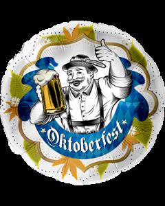 Oktoberfest Banner Folienform Rund 28.5in/71cm
