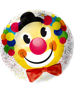 Clownskopf Folienform Rund 28.5in/71cm