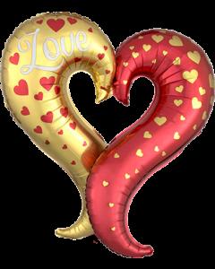 Curvey Heart Folienfiguren 30in/76cm