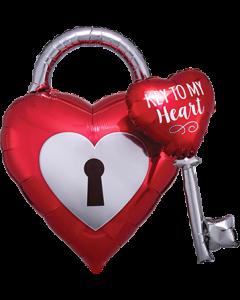 Key to my Heart Folienfiguren 32in/81cm