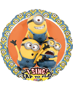 Despicable Me Group Sing A Tune Folienform Rund 28in/71cm