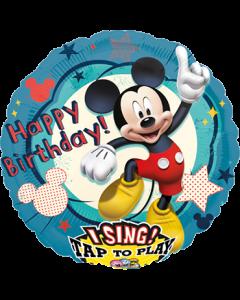 Mickey Clubhouse Birthday Sing A Tune Folienform Rund 28in/71cm