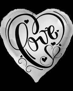 Love Silber Folienform Herz 17in/43cm