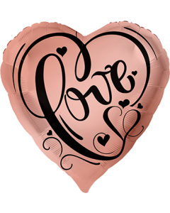 Love Rose Gold Folienform Herz 28.5in/71cm