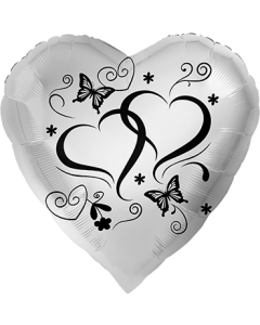 Herzen Silber Folienform Herz 28.5in/71cm