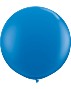 Standard Dark Blue Latexballon Rund 36in/90cm