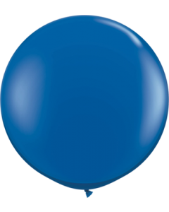 Crystal Sapphire Blue (Transparent) Latexballon Rund 36in/90cm