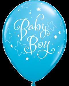 Baby Boy Stars Fashion Robins Egg Blue Latexballon Rund 11in/27.5cm