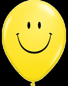 Smile Face Standard Yellow Latexballon Rund 11in/27.5cm