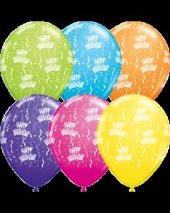 Birthday Retail Sortiment Latexballon Rund 11in/27.5cm