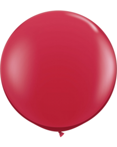Crystal Ruby Red (Transparent) Latexballon Rund 36in/90cm