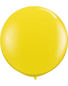 Crystal Citrine Yellow (Transparent) Latexballon Rund 36in/90cm
