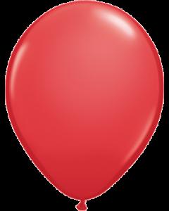 Standard Red Latexballon Rund 11in/27.5cm