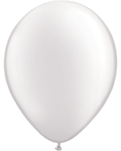 Pearl White Latexballon Rund 16in/40cm