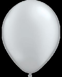 Metallic Silver Latexballon Rund 16in/40cm