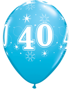 40 Sparkle Fashion Robins Egg Blue Latexballon Rund 11in/27.5cm